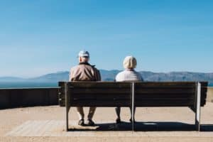 Alzheimer's disease, old couple