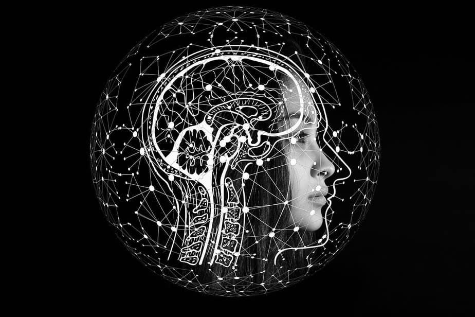 Woman's brain alzheimer's disease