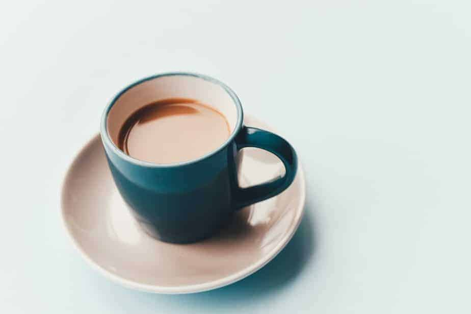 cup on coffee on saucer