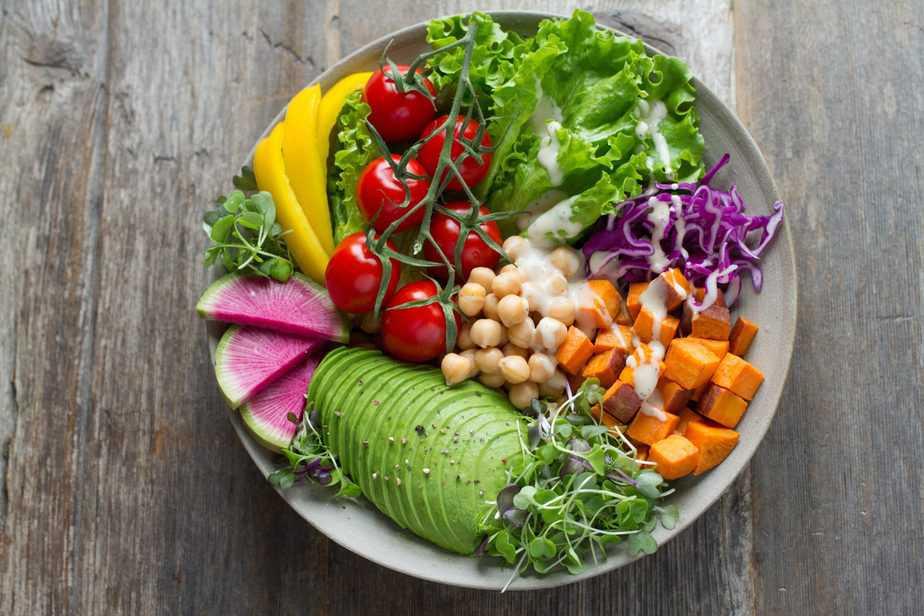Photo of gluten free salad bowl