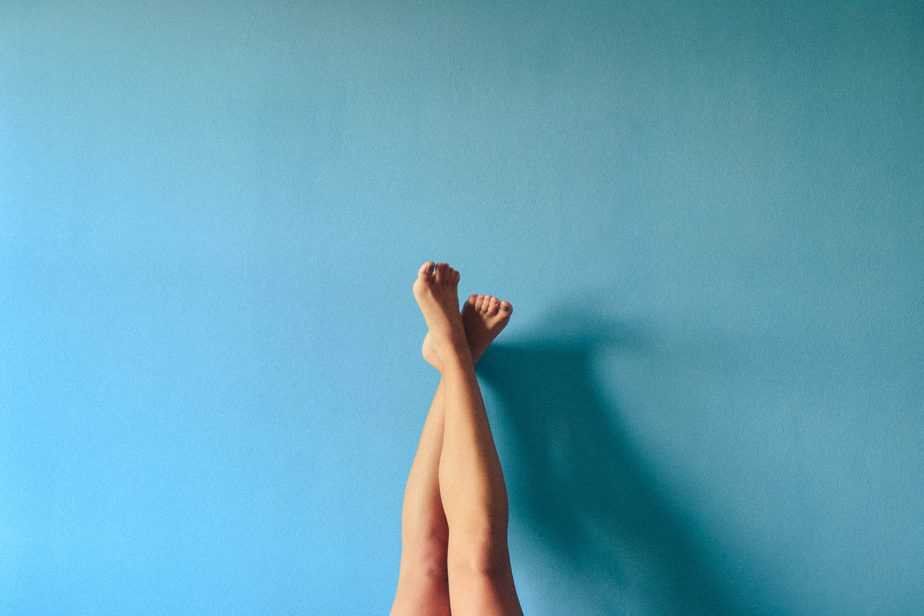 Blue legs on wall, restless leg syndrome