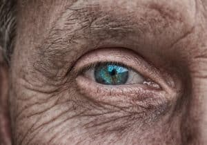 Old male eye glaucoma