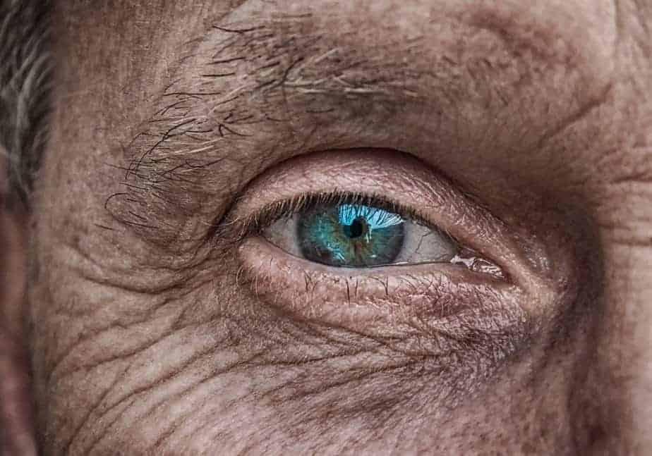 Old male eye glaucoma