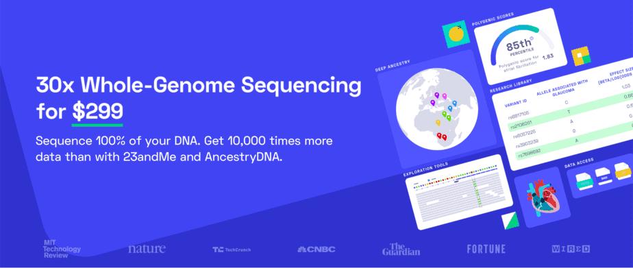 30-кратное секвенирование всего генома - Nebula Genomics