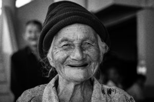 Old woman bw alzheimers