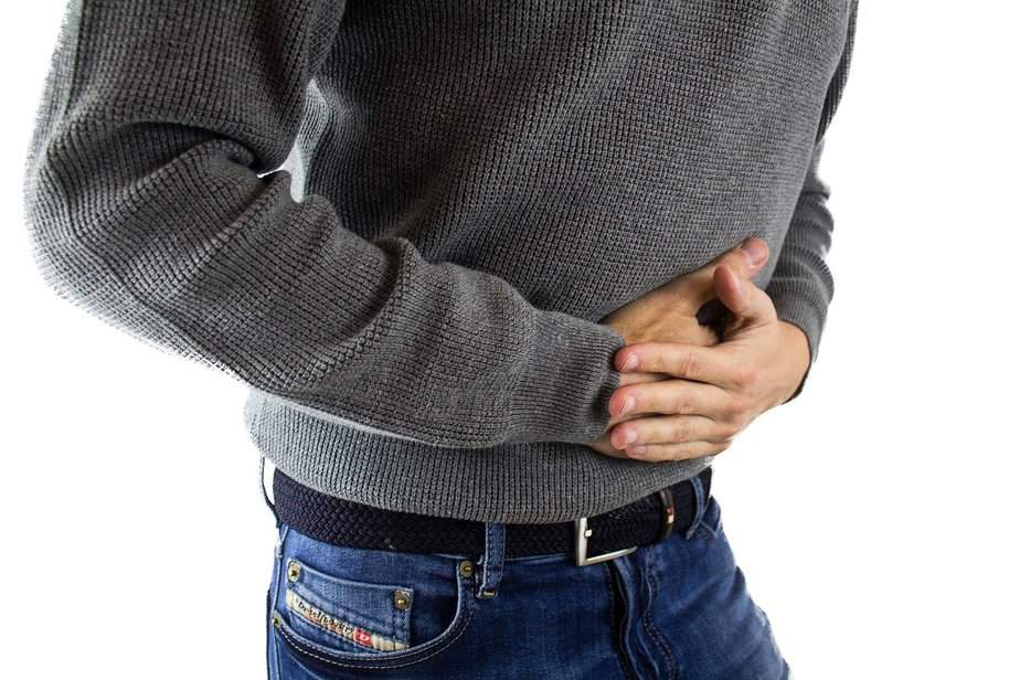 Man in stomach pain ulcerative colitis
