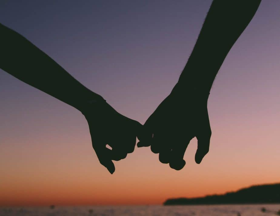 Holding hands beach sexual behavior