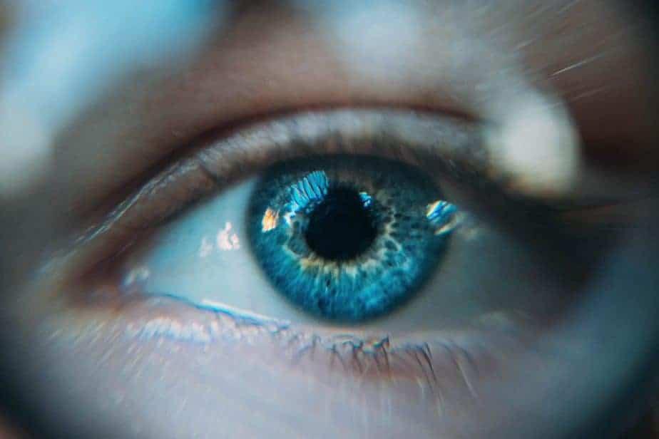 Primer plano, de, un, ojo humano