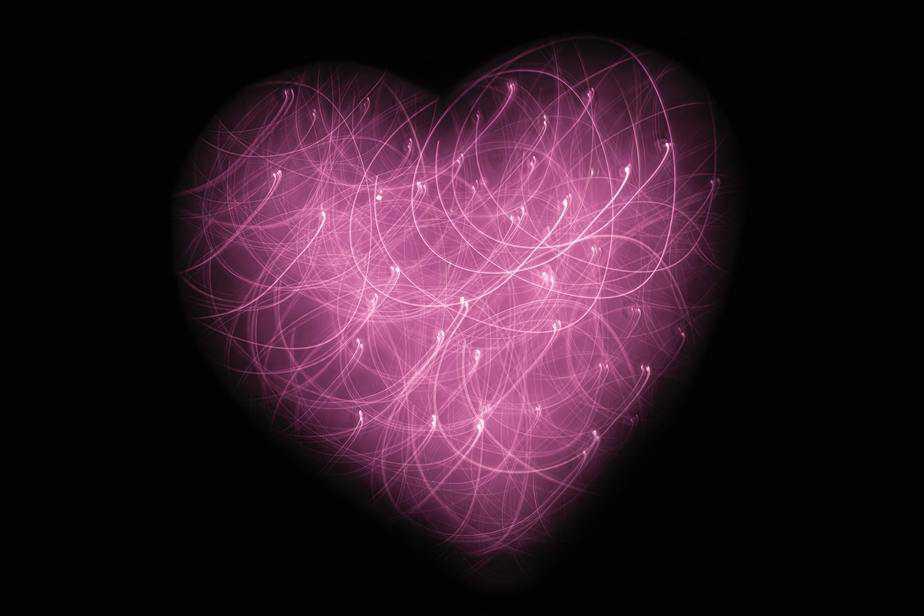 ilustração de coração rosa