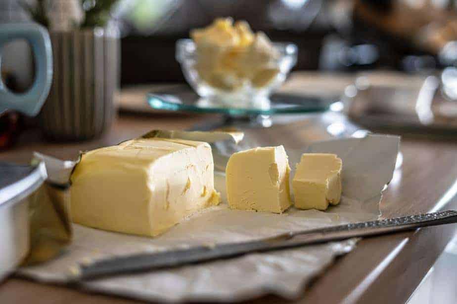 geschnittene Butter