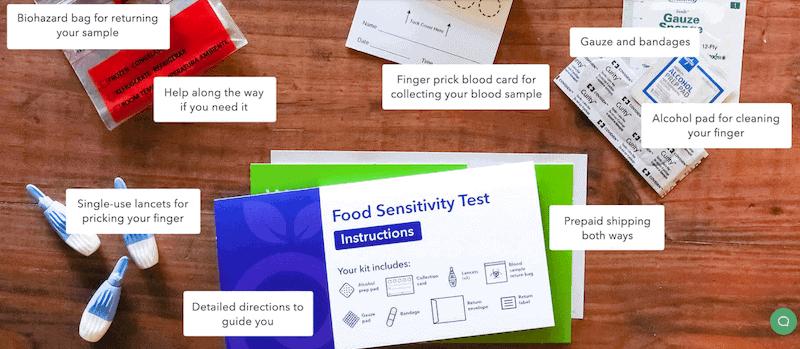اختبار حساسية الطعام EverlyWell.