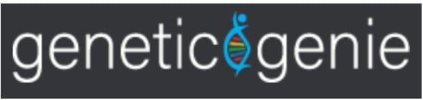 Logotipo de genio genético