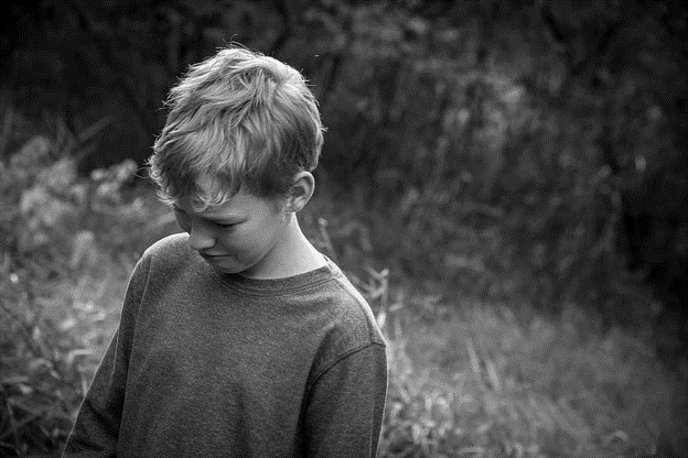 A child showing signs of depression