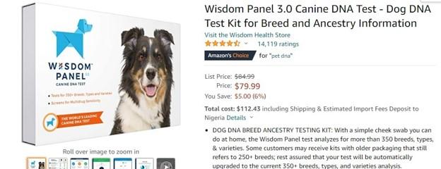 Revisión de Amazon para Wisdom Panel