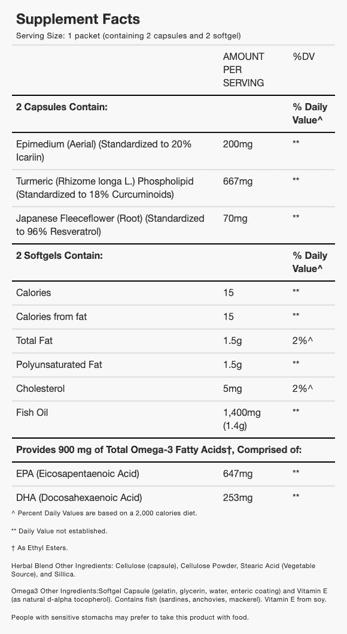 Relief Factor nutrition information