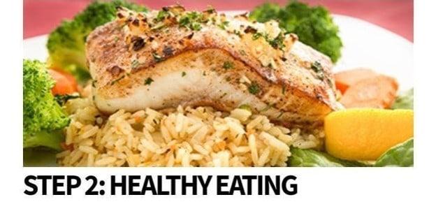 Step 2: Healthy eating