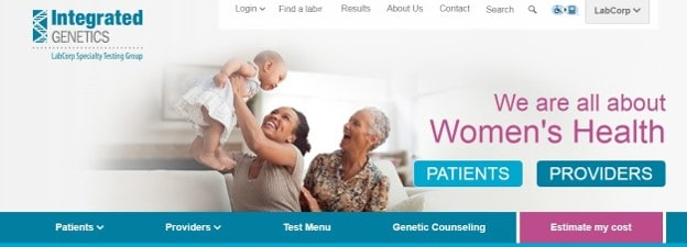 Integrated Genetics homepage