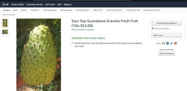 Guanabana on Amazon