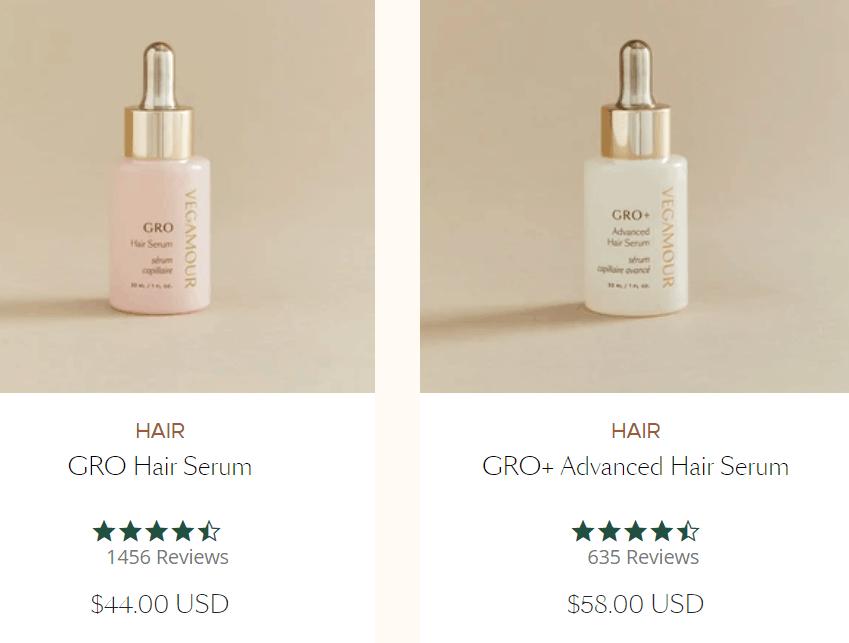 Produtos para cabelo Vegamour