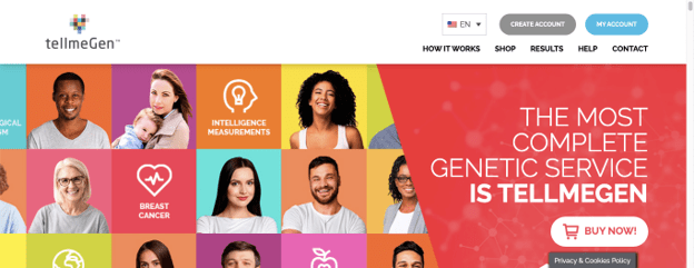 tellmegen DNA testing home page in How much is a DNA test
