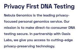 Política de Privacidade da Nebula Genomics
