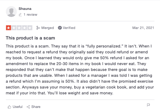 A negative review