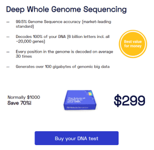 Nebula Genomics is relatively quick for how long a DNA test takes