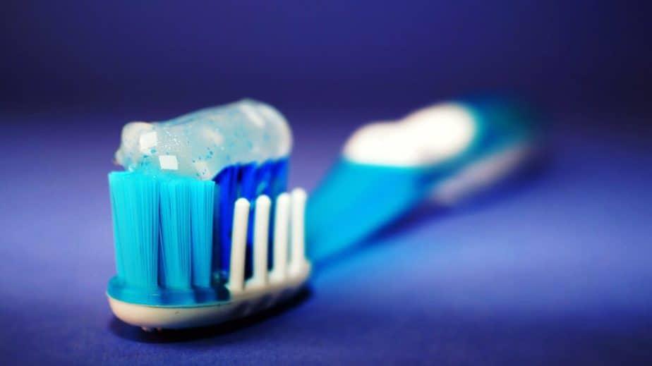closeup of toothbrush