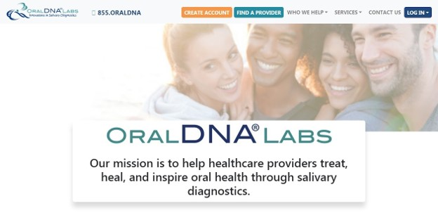 Oral DNA Labs homepage