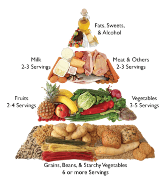 A recommended diet for people with diabetes.