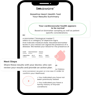 imaware home cholesterol test results and recommendations