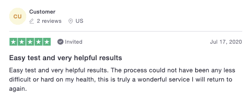A positive imaware review on Trustpilot