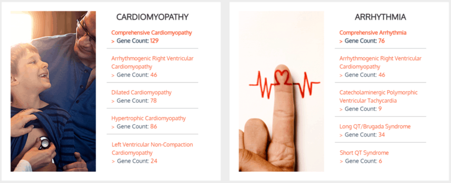 Two options for Fulgent Genetics cardiomyopathy genetic tests