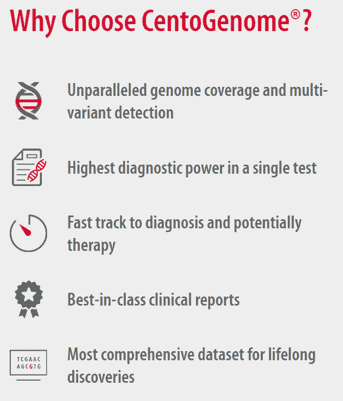 Benefits of CENTOGENE whole genome sequencing