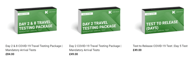 Mandatory arrival tests and optional 5 day release