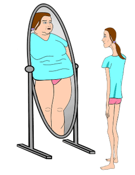 The psychological feeling of an eating disorder